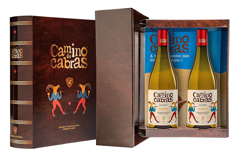 CAMINO DE CABRAS Estuche regalo2 - vino blanco - Albariño Rias Baixas