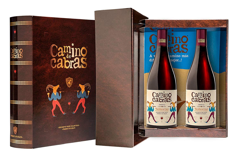 CAMINO DE CABRAS Estuche regalo2 - vino tinto crianza - Mencia