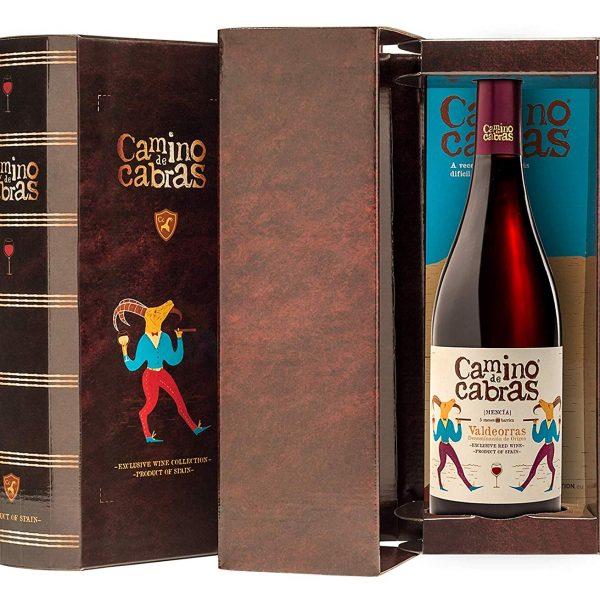 CAMINO DE CABRAS Estuche regalo - vino tinto crianza - Mencia